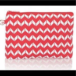 Handbags - Thirty-One Mini Zipper Pouch — Red Chevron